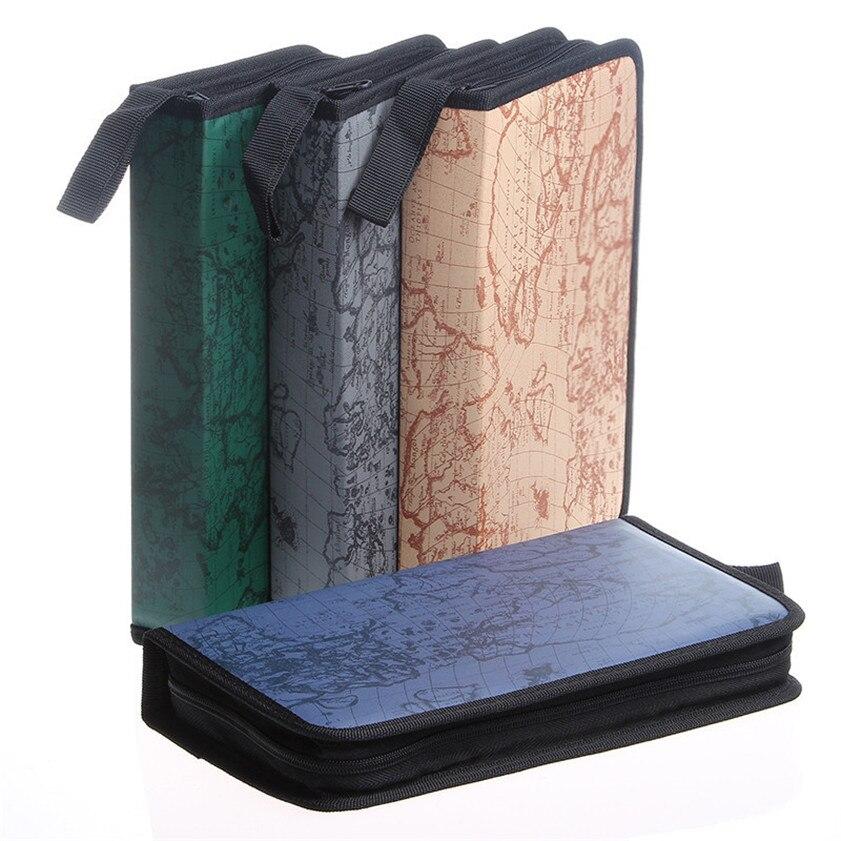 2017 80 Disc CD DVD Disc Organizer Storage Cover Carry Case Holder Box Bag Gray #0731 #0731 B