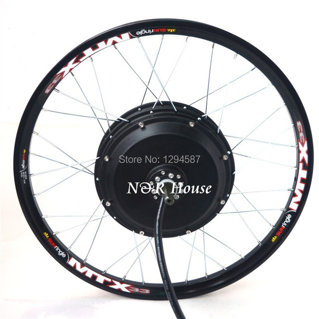 48v 96v 3kw Electric Bike Motor Wheel Suitable For Standard Bicycle Disc  Brake And Single