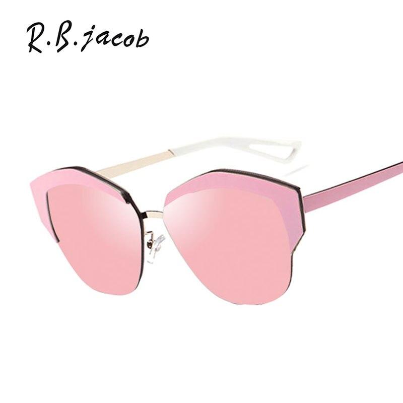 Lady Fashion Italy Brand Desinger UV400 Cool Shades Mirror Sun Glasses Female Male Pink Men Women Cat Eye Sunglasses