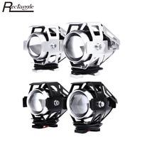 2pcs High Brightness LED Transform Spotlight Motorcycle Headlight 3000LM 125W 12V U5 Aluminum Alloy Moto Headlamp