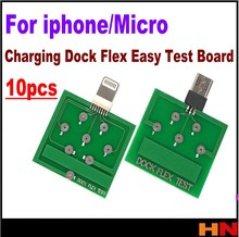 10pcs סיטונאי טעינת Dock Flex קל מבחן לוח כלי עבור אנדרואיד מיקרו USB Smartphone תיקון