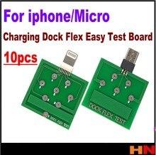 ¡Venta al por mayor! 10 Uds. De tarjeta de prueba flexible de carga para reparación de Smartphone Android Micro USB