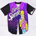 Real USA Size Custom made Fashion 3D Sublimation Print Dirty Sprite Baseball Jersey Plus Size