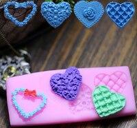 New Style Flower Heart Modelling Silicon Fondant Cake Decoration Mold Wholesale Fondant Mold Chocolate Mold
