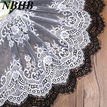 Factory direct selling Best Quality eyelash lace trim 3Meter DIY Wedding high grade clothes accessories fabric 49cm wide