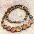 Natural 6mm multicolor Picasso round jasper stone beads necklace for women 10-20mm pendant chain clavicle jewelry 18inch B3195