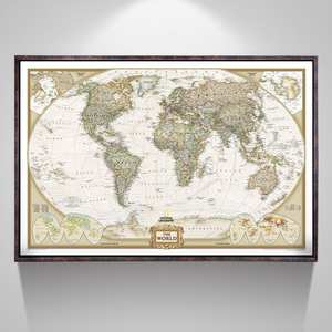 Top 10 framed poster retro list 2818 inch vintage map home decoration map of no frame antique poster wall chart gumiabroncs Images