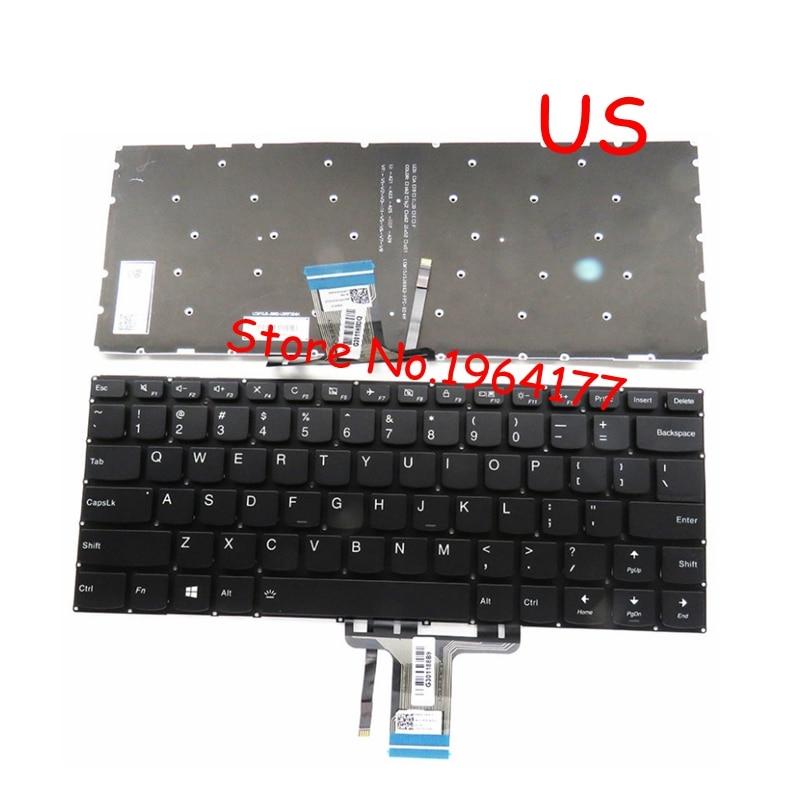 New FOR Lenovo Yoga 710-14IKB 710-14ISK 710-15IKB 710-15ISK Keyboard US Black With Backlight With Backlit