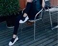 2017 Цвет соответствия толстым дном обувь одного весной и осень педаль ленивый увеличился в женской обуви мокасины 35-40