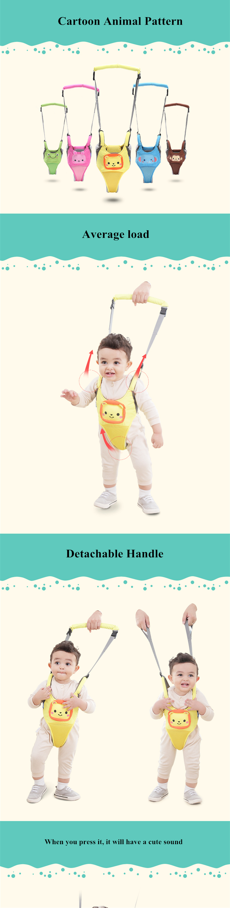 Baby Learn Walking Harness Walker
