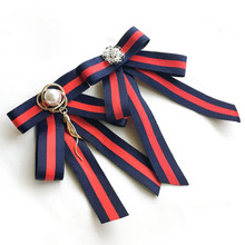 College Style bowtie Wedding Party Polyester Striped bowknot Womens Bow Tie Fashion Neck Wear Ribbon bowties Shirt  Accessories