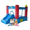 Yard uso doméstico seguranças inflável interior ao ar livre casa de salto com slide crianças brincando castelo