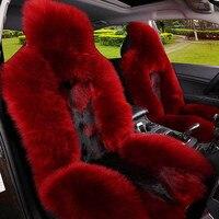 New Arrive Winter Car Seat Covers 100 Natural Fur Australian Sheepskin Fur Car Seat Covers Universal