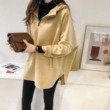 M new loose hooded hoodie womens head long sleeve shirt Hong Kong style thick coat