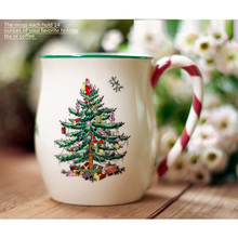1pcs Christmas tree mug milk white Hot Chocolate mug Nordic luxury Christmas mug New Year's gift home coffee Mug Drinkware