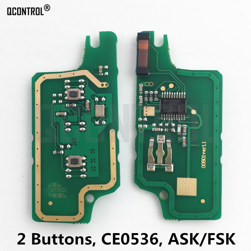 QCONTROL Remote <font><b>Key</b></font> Circuit Board for <font><b>Peugeot</b></font> 207 208 307 <font><b>308</b></font> 408 Partner CE0536 ASK/FSK Signal image