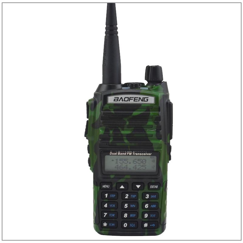 Baofeng radio uv-walkie talkie colore camouflage dual band vhf/uhf ham radio ricetrasmittente baofeng uv82 w/free auricolare