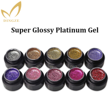2017 New Product Vernis Semi Permanent Shiny Platinum Gel Glitter Color Varnish 8 Colors MICHEY