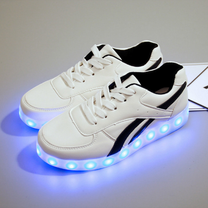 USB Charging Glowing Luminous Sneakers Led Slippers Kids Light Up Shoes Illuminated Sneakers Children Tenis Shoes