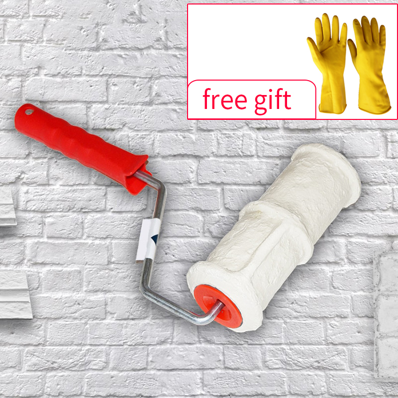 pattern-paint-roller-polyurethane-tool-environmental-protection-stamp-roller-decorative-cylinder-imitate-stone-for-wall-glove