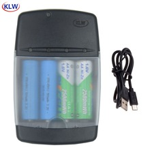 4 slot display led inteligente ni zn carregador de bateria para nizn aa aaa 1.6v lifepo4 16340 14500 10440 3.2v carregador de bateria recarregável