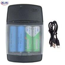4 yuvası LED ekran akıllı ni zn pil şarj cihazı NIZN AA AAA 1.6V LiFePo4 16340 14500 10440 3.2V şarj edilebilir pil pil şarj cihazı