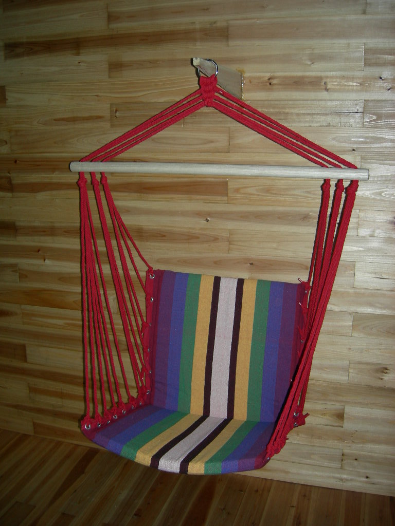 High quality Canvas Patio Swings Chromatic stripe hanging chair high quality