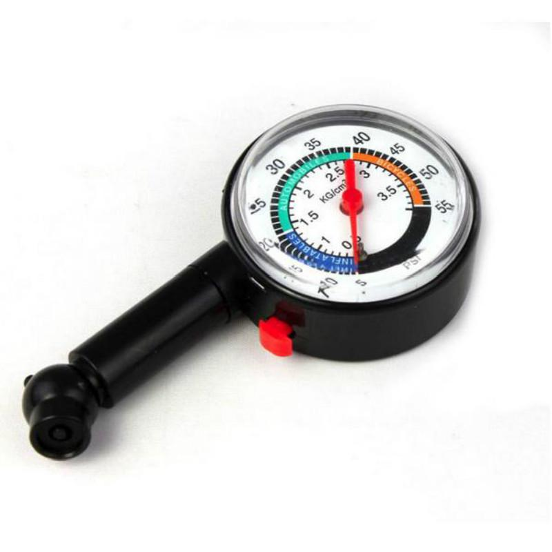 Auto Motor Car Bike Tyre Tire Air Pressure Gauge Dial Meter Truck Vehicle Tester