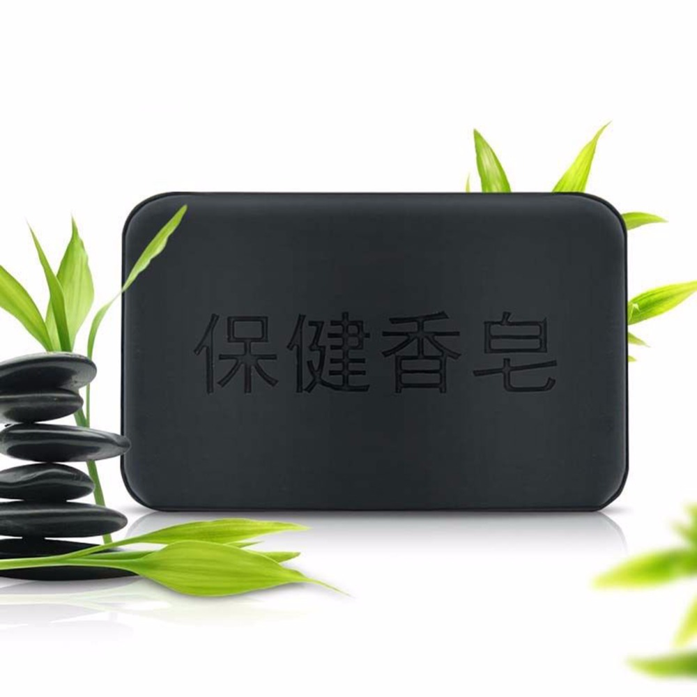 Black-Bamboo-Charcoal-Soap-Face-Body-Clear-Anti-Bacterial-Tourmaline-Soap