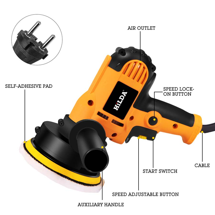 Image 5 - 220V Electric Car Polisher Machine Auto Polishing Machine Adjustable Speed Sanding Waxing Tools Car Accessories Powewr Tools-in Polishers from Tools