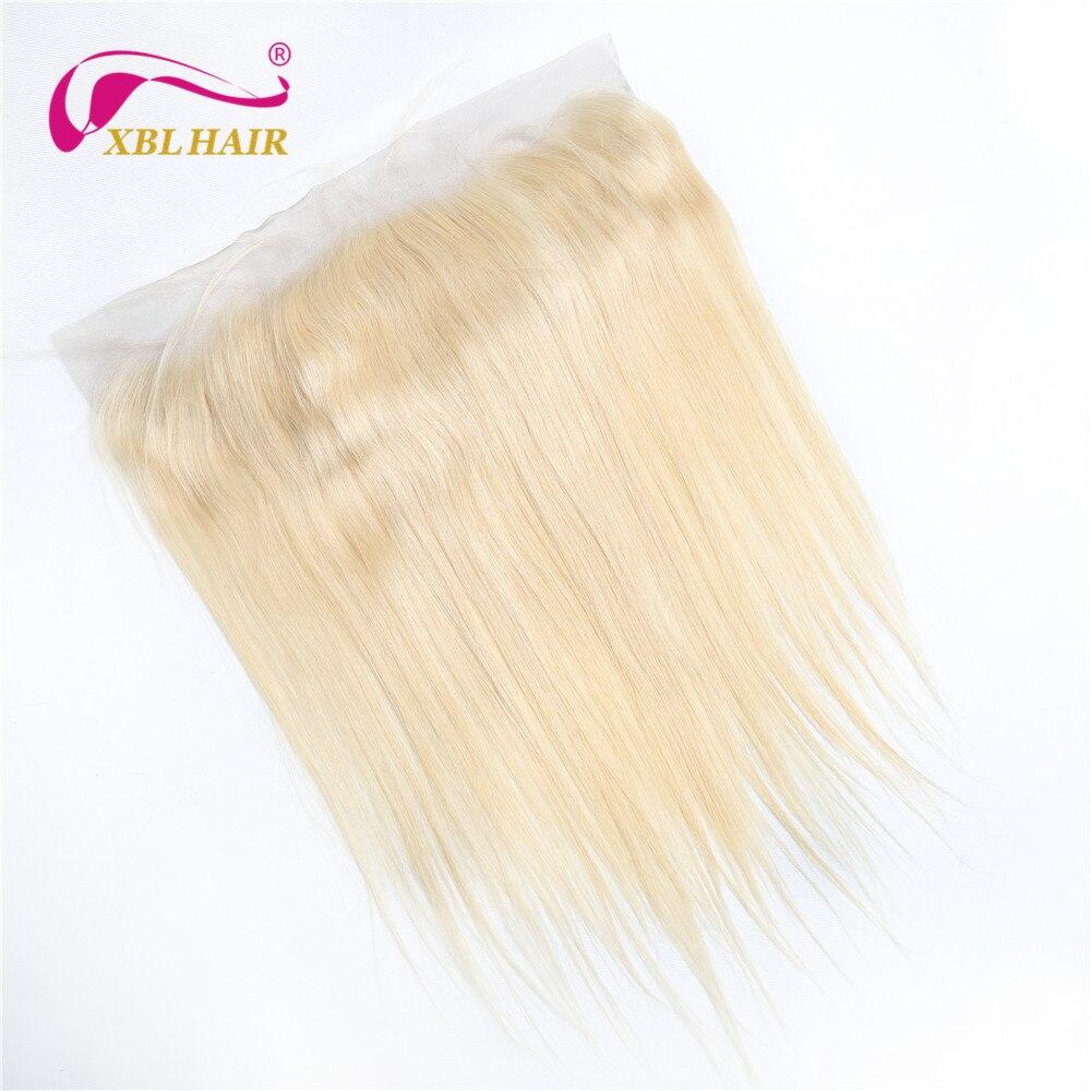 XBLHAIR #613 блондинка Цвет 13x4 кружева Фронтальная застежка прямой человеческих волос бразильского Виргинские волосы могут покрасить в темнее Ц...