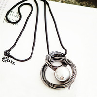 2016 New Ring All Match Imitation Pearl Accessories Decoration Necklace Women S Design Long Necklace For