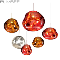 Modern led Glass Lava Pendant Lamp LED Glass Ball Pendant Lights Suspension Luminaria Hang Lamp Lustres Pendentes Lighting