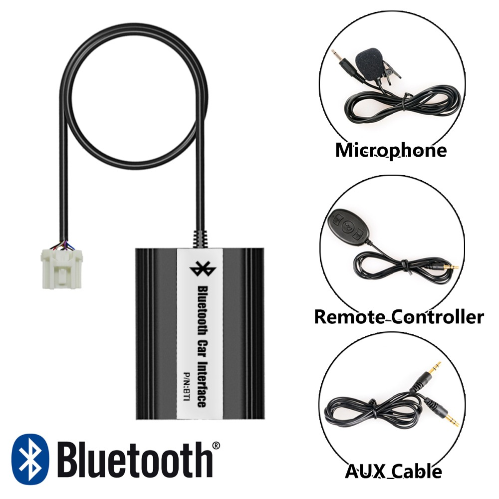ФОТО APPS2Car Bluetooth Adapter USB AUX in Mp3 Adapter Integrated Hands-Free for Mazda Mazda 6 2002-Oct.2003
