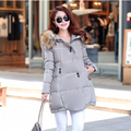 2016 winter women jacket long down Coat super large collar parka coat cloak plus size thick Nagymaros collar down jacket
