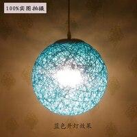 Bamboo bird's nest round hemp ball lamp simple creative rattan bamboo decorated restaurant garden bar hanging pendant light ZH