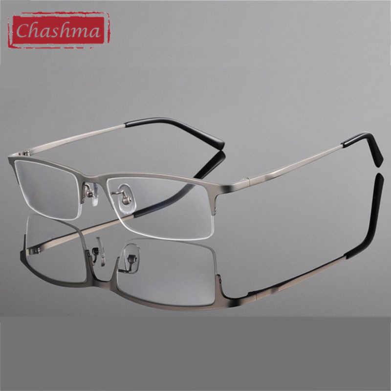 dcc3388fd247 ... Chashma Titanium Eyeglass Ultra Light Weight Frames Optical Frame  Glasses for Men Half Rim Eyeglasses