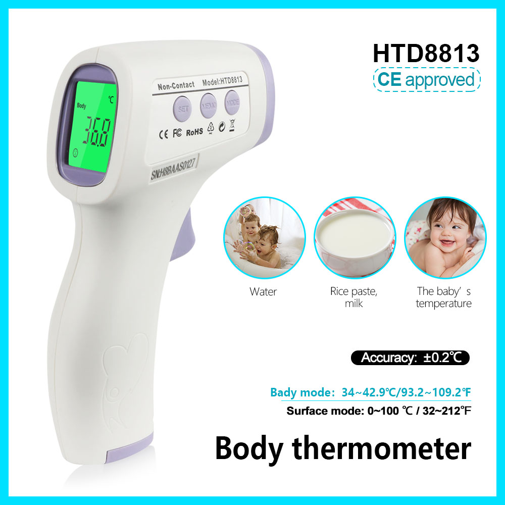 Jumper body thermometer digital electronic temperature meter termometro forhead original HTD8813 non-contact дмитрий трухан болезни кишечника клиника диагностика и лечение учебное пособие