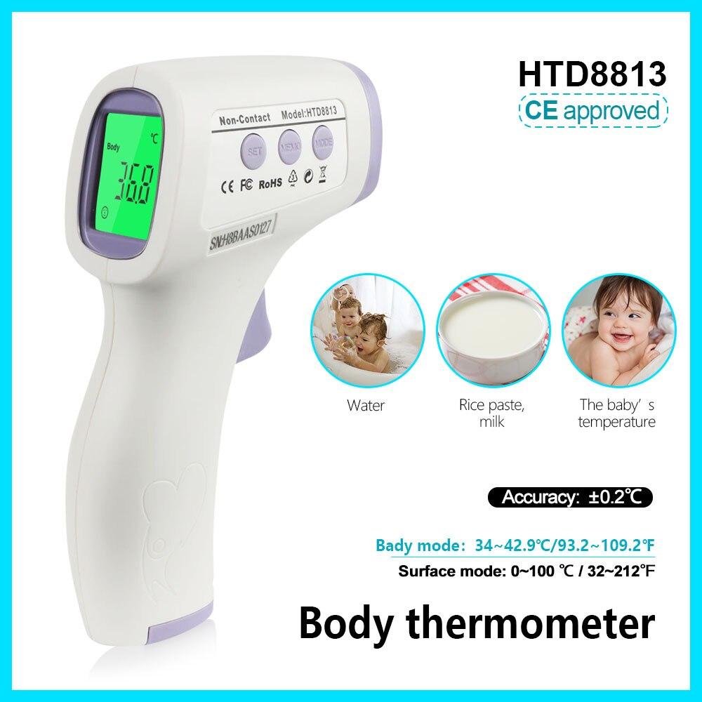 Jumper corps thermomètre numérique électronique température compteur termometro forhead d'origine HTD8813 non-contacter