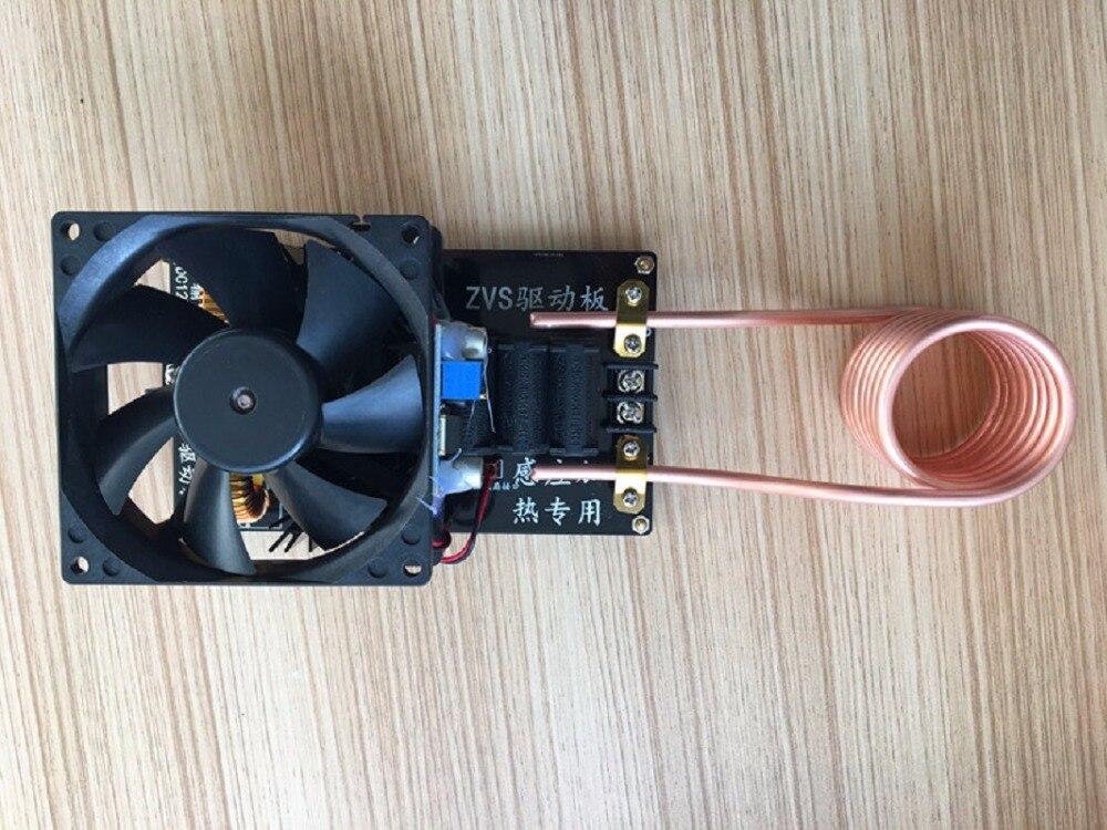 1000 W 20A ZVS Induction chauffage Machine ventilateur de refroidissement PCB Tube de cuivre 12-36 V avec bobine en laiton