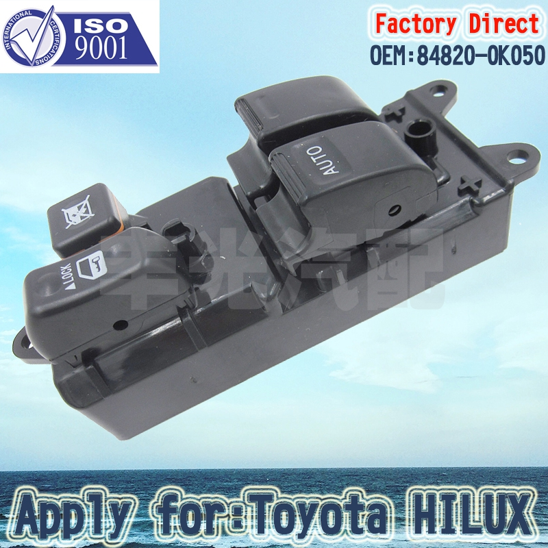 Factory Direct Auto Electric Power Window Master Control Switch Apply For 2001-2009 Toyota Tacoma 2 Door 84820-04010