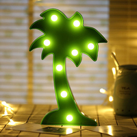 Coconut Tree Modeling Fairy Night Lights ABS Plastic LED Table Desk Lamp Room Atmosphere Wedding Party