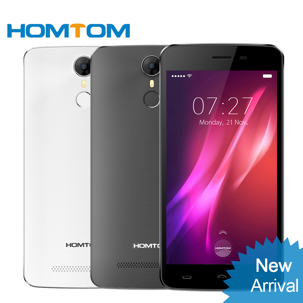 bilder für Homtom ht27 3g smartphone android 6.0 mtk6580 quad core 1 gb ram 8 gb rom 8.0mp + 5.0mp 5,5 ''1280 * 720px fingerabdruck handy