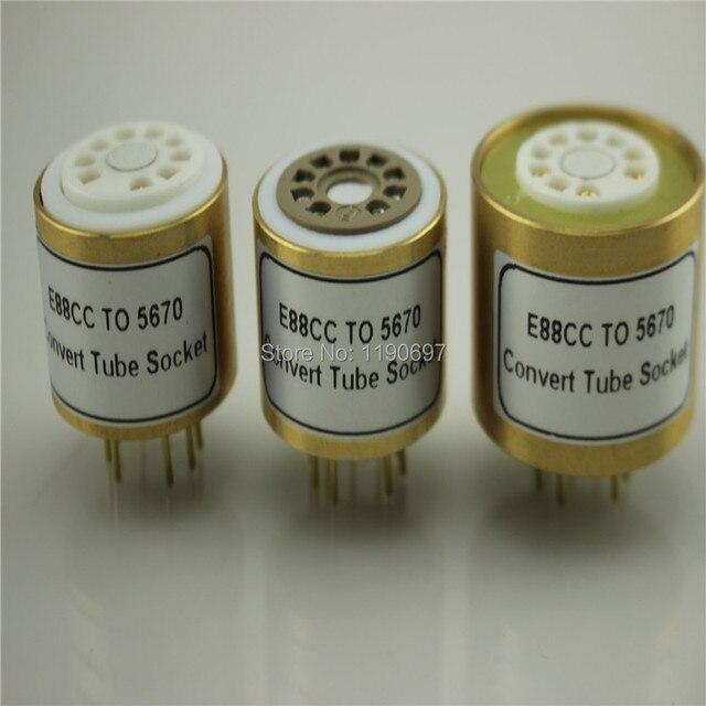 1 قطعة E88CC 6922 6DJ8 6N11 (العلوي) إلى 5670 6N3 (السفلي) أنبوب الإلكترونية لتقوم بها بنفسك الصوت فراغ أنبوب محول محول مقبس شحن مجاني