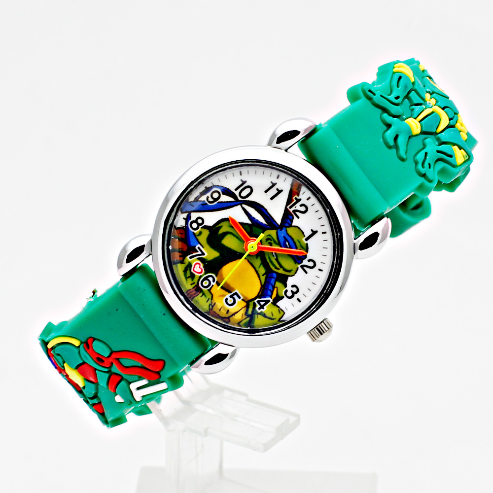 Fashion 3D Cartoon Children's Watch Casual Pointer Dial Silicone Strap Boy Girl Sports Clock  Student Quartz Wristwatches