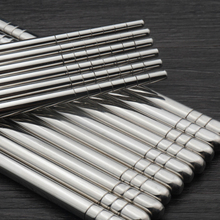 Tableware Chinese chopsticks Stainless steel good feeling to hold it you can buy 8 pairs stainless chopstick rest