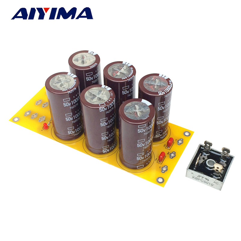 Aiyima 50A Amplifier Rectifier Filter Supply Power Board High Power Rectifier Filter Power Supply Board 10000uf 50V купить дешево онлайн