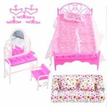 Аксессуары для кукол, диван-кровать, вешалки, комод, игрушка для ролевых игр, мебель для дома, мини-кровать, гостиная для детей, пластиковые куклы