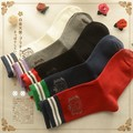 free shipping Fresh striped socks female thick letters stretch Tall Platinum Angel Japanese Sen female line 2015 Winter Women So