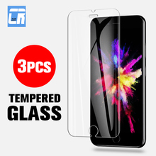 3PCS Full Tempered Glass for iPhone 7 8 X XR XS MAX Screen Protector Protective Film 6 6S Plus 5 5S 5C SE